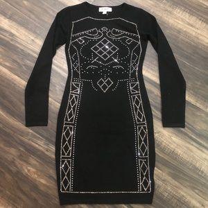 BNWT Say What? Beaded Midi Bodycon Dress
